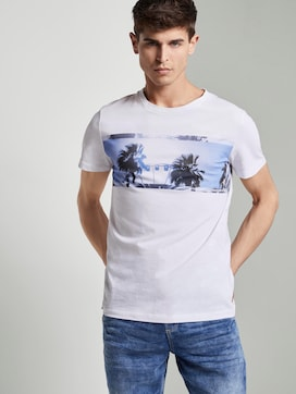Strukturiertes T-Shirt mit Foto-Print - 5 - TOM TAILOR Denim