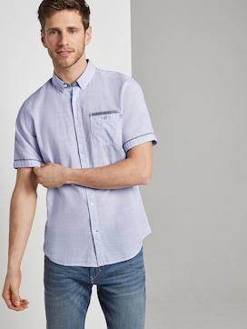 Fijn gestreept shirt met korte mouwen - 5 - TOM TAILOR