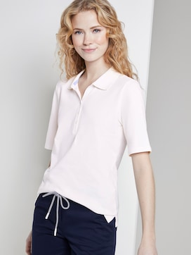 Polo shirt with a long button tab - 5 - TOM TAILOR