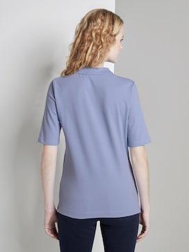 Polo shirt met lange knoopsluiting - 2 - TOM TAILOR