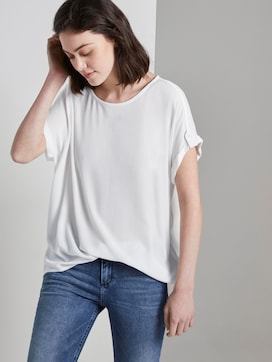 Blouse top with turn-ups - 5 - TOM TAILOR Denim