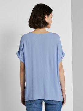 Blouse top with turn-ups - 2 - TOM TAILOR Denim