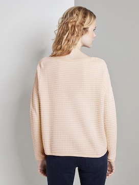 Knitted polka dot sweater - 2 - TOM TAILOR