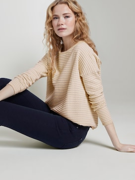 Knitted polka dot sweater - 5 - TOM TAILOR