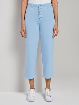 Coloured Denim Culotte - 1 - Mine to five