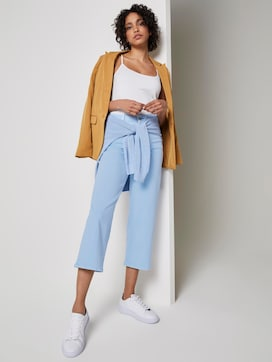 Coloured Denim Culotte - 3 - Mine to five