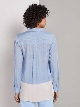 Gestreepte dubbellaagse blouse - 2 - Mine to five