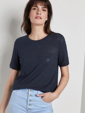 T-Shirt met Getextureerd motief - 5 - Mine to five