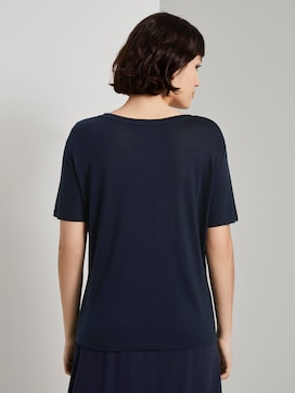 Simple T-shirt made of Lyocell - 2 - Mine to five