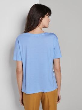 Schlichtes T-Shirt aus Lyocell - 2 - Mine to five