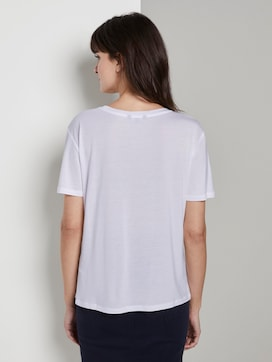 Simpel Lyocell T-shirt - 2 - Tom Tailor E-Shop Kollektion