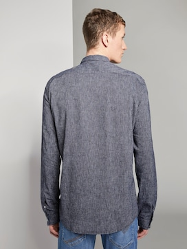 Structured Linen-blend shirt - 2 - TOM TAILOR Denim