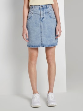 Nena & Larissa: Denim rok met hoge taille in mini lengte - 1 - TOM TAILOR Denim