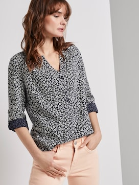 Nena & Larissa: Blouse with turn-up details - 5 - TOM TAILOR