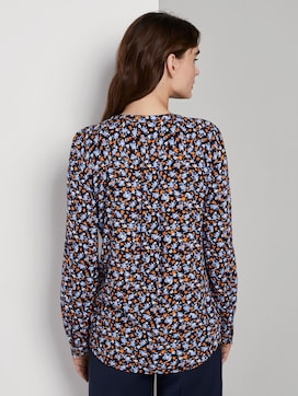 Langärmlige Bluse mit ganzflächigem Muster - 2 - TOM TAILOR