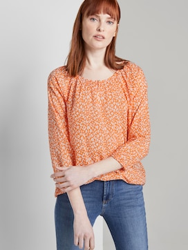 Blouse with ruffles - 5 - TOM TAILOR