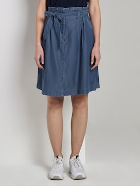 Skirt with ruffles - 1 - TOM TAILOR