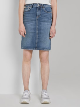 Plain denim skirt - 1 - TOM TAILOR