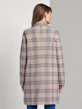 Fitted coat with a check pattern - 2 - TOM TAILOR Denim