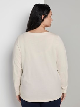 Sweatshirt met knoopdetail - 2 - My True Me