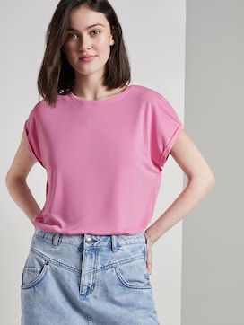 Lockeres T-Shirt aus Modal - 5 - TOM TAILOR Denim