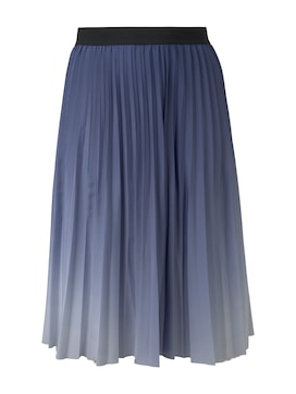 MY TRUE ME Damen Plissierter Midi-Rock mit Farbverlauf, blau