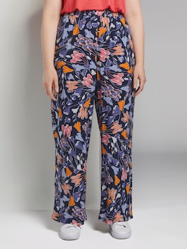 Palazzo trousers with a floral pattern - 1 - My True Me