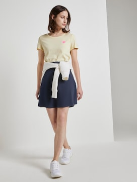 Mini skater skirt with a waffle texture - 3 - TOM TAILOR Denim