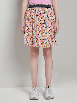 Flowing mini skirt with a floral print - 1 - TOM TAILOR Denim