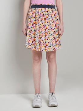 Soepele mini rok met bloemenprint - 1 - TOM TAILOR Denim
