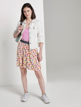 Flowing mini skirt with a floral print - 3 - TOM TAILOR Denim