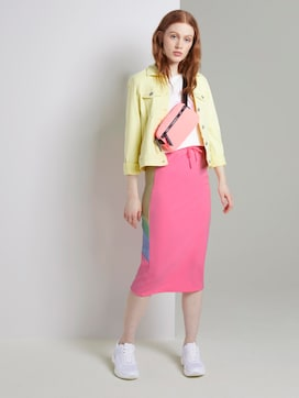 Midi skirt in colour blocking - 3 - TOM TAILOR Denim