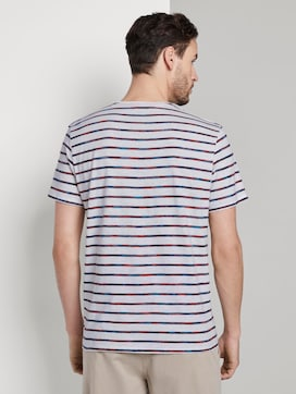 Striped T-shirt with a chest pocket - 2 - TOM TAILOR