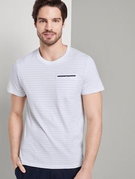 T-Shirt mit Strukturmuster - 5 - TOM TAILOR