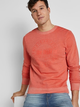 Coloured sweatshirt with a print - 5 - TOM TAILOR