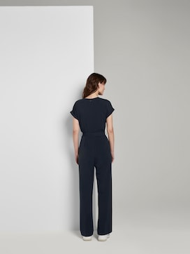 Jumpsuit with a tie belt - 2 - TOM TAILOR