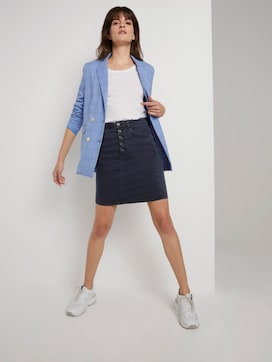 Denim skirt with a button tab - 3 - Tom Tailor E-Shop Kollektion