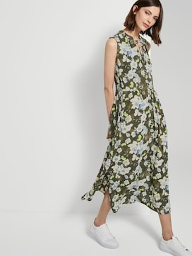 Sleeveless maxi dress with a pattern - 5 - TOM TAILOR