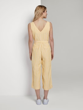 Sleeveless jumpsuit with stripes and a belt - 2 - TOM TAILOR