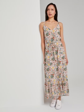 Maxi-dress with a tropical print - 5 - TOM TAILOR