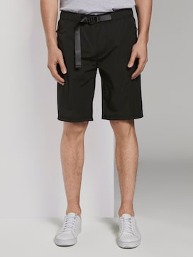 Basic shorts with a belt - 1 - TOM TAILOR Denim