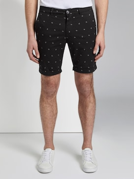 Patterned chino shorts - 1 - TOM TAILOR Denim
