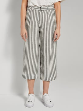 Gestreepte culotte broek met linnenmix - 1 - TOM TAILOR