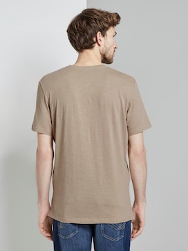 Basic Henley T-shirt in a melange look - 2 - TOM TAILOR