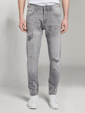 Taps toelopende Conroy Stretch Jeans met Destroys - 1 - TOM TAILOR Denim