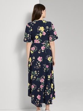Soepelende Maxi Wrap Jurk met bloemenprint - 2 - TOM TAILOR Denim