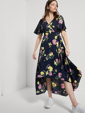 Soepelende Maxi Wrap Jurk met bloemenprint - 5 - TOM TAILOR Denim