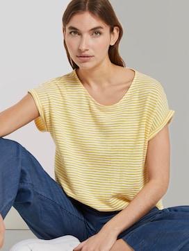 Gestreept T-shirt met elastische tailleband - 5 - TOM TAILOR