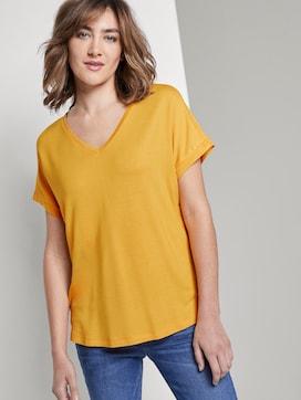 Basic T-shirt met V-hals - 5 - TOM TAILOR