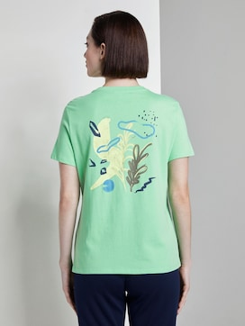 T-Shirt mit Rückenprint im Loose Fit - 2 - TOM TAILOR Denim